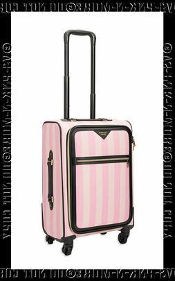 Victorias Secret Pink Stripe Suitcase Luggage Wheelie Spinne