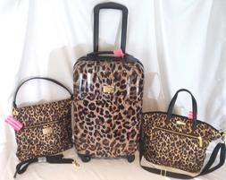 Victorias Secret Supermodel LEOPARD Luggage SET Wheelie Suit
