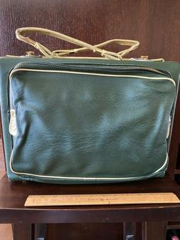 ROBIN Vintage GREEN Vinyl OVERNIGHT Bag OR CRAFT BAG