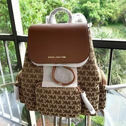 Michael Kors Women Lady Girls Large Jacquard Leather Backpac