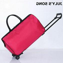 Women Luggage Carry on Bag Rolling Wheels Travel Trolley Sui