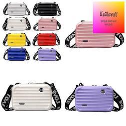 Women Mini Suitcase Shape Crossbody Bag Shoulder Bag With Wi