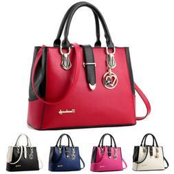 Women PU Leather Handbag Shoulder Messenger Satchel Tote Pur
