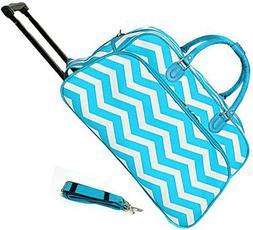 "Women's Chevron Print 21"" Rolling Duffel Bag Suitcase Garmen"