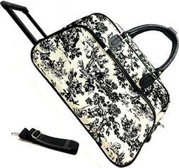"""Women's Countryside 21"""" Rolling Duffel Bag Suitcase Garment"""
