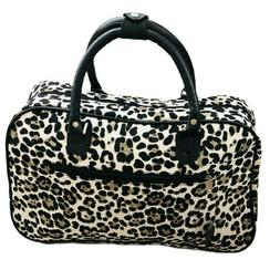 "Women's Fashion Print 19"" Duffel Bag Suitcase Carry-on Duffl"