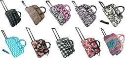 """Women's Fashion Print 21"""" Rolling Duffel Bag Suitcase Garmen"""