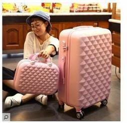 Women Travel Luggage Rolling  Boarding Wheel Luxury Trolley
