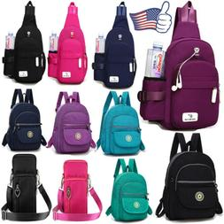 Women Waterproof Backpack Rucksack Sling Bag Crossbody Shoul
