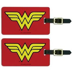 Wonder Woman Classic Logo Luggage ID Tags Suitcase Carry-On