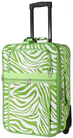 Zebra Carry On Luggage Suitcase Travel Small Rolling Wheeled
