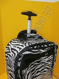 Pottery Barn Teen Zebra Stripe Jet Set Luggage Carry On Suit
